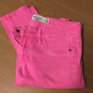 Abercrombie & Fitch pink jeans